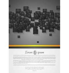 Abstract corporate tech flyer design vector