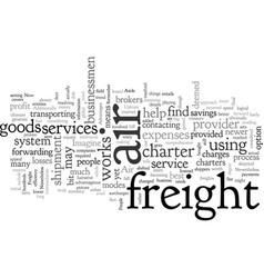Air freight charter vector