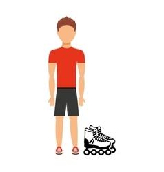 avatar person athlete icon vector image