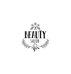 badge for small businesses - beauty salon sticker vector image