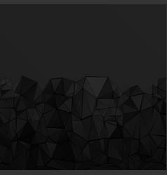 black polygonal background vector image