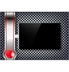 black screen on a metal background vector image