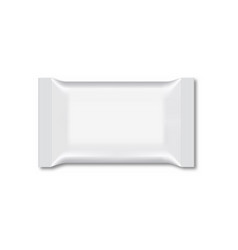blank of wet wipe flow packing vector image