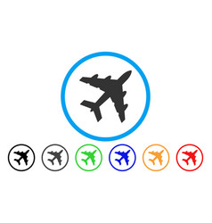 Bomber rounded icon vector