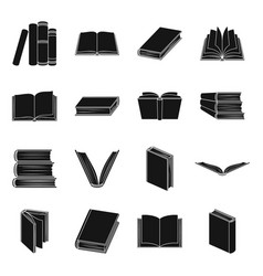 Books set icons in black style big collection of vector