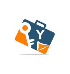 Briefcase key document initial y vector