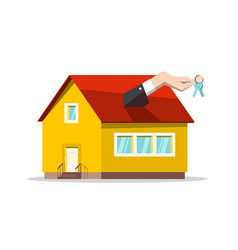buing or selling house concept real estate vector image