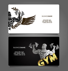 business card gym and fitness vector image