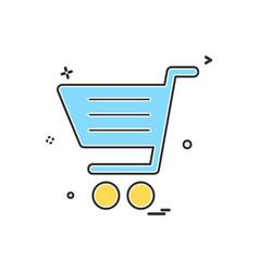 cart icon design vector image