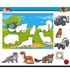 cartoon task for kids vector image