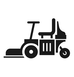 Chair lawn mower icon simple style vector