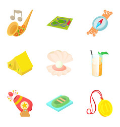 Choose direction icons set cartoon style vector