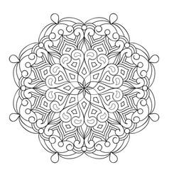 circle mandala design vector image
