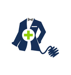 Clothing for doctor tailor service vector