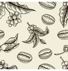 coffee - seamless pattern vector image