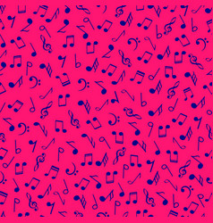 colorful music notes seamless pattern blue colors vector image