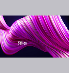 colorful pink and purple striped wave vector image