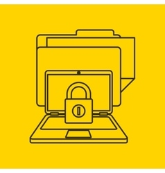 Data center security flat icons vector