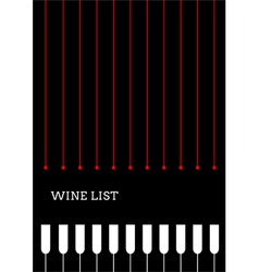 Design a wine list with wineglasses vector