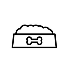 Dog meal icon vector