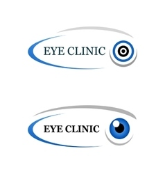eye clinic sign vector image