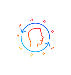 Face scanning repeat line icon face id update vector