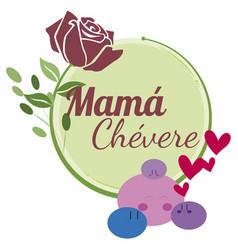 Feliz dia mama flor 2 vector