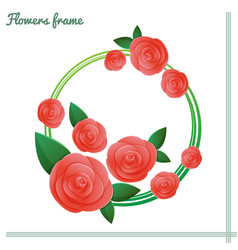 flowers frame two vector image