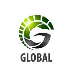 global initial letter g logo concept design vector image