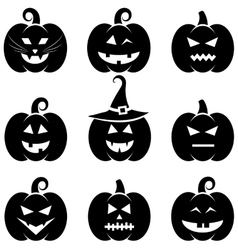 Halloween pumpkin set vector