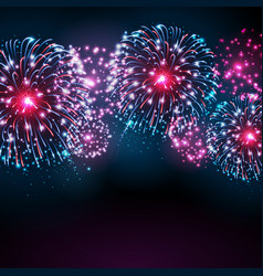 Holiday festival blue and pink firework vector