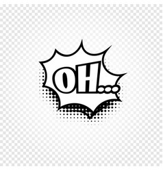 Isolated abstract black and white color comics vector