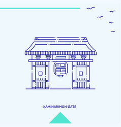 kaminarimon gate skyline vector image