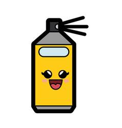 Kawaii spray bottle icon vector