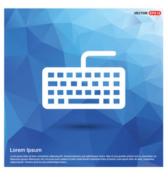 keyboard icon vector image