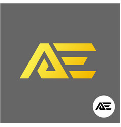 Letter a and e logo ae ligature symbol vector