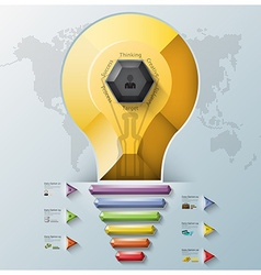 Light Bulb Three Dimension Polygon And Triangle vector image
