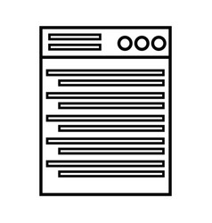 Line technology window element and website vector