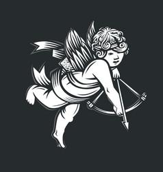 Llustration angel amur vector