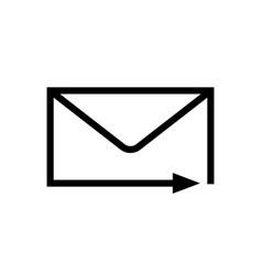 mail arrow icon vector image
