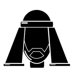 man egypt icon simple black style vector image