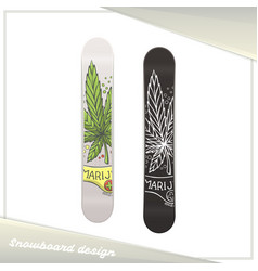 Medical marijuana snowboard ten vector