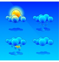 meteorology symbols vector image
