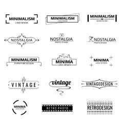 Minimal modern logos vector image