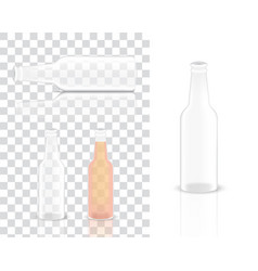 mock up realistic glass transparent alcohol vector image