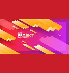 modern abstract background banner with waves of vector image