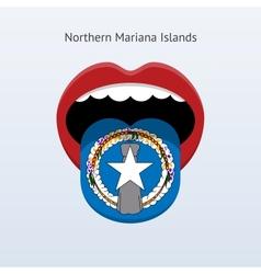 Northern mariana islands language vector