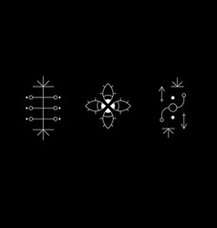 Occult geometry symbol set ancient secret vector