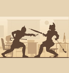 Office gladiators vector
