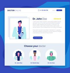 online doctor set 5 vector image